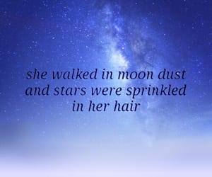 galaxy, hair, and quotes image