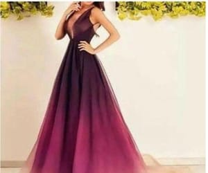 dress, gradient, and gown image