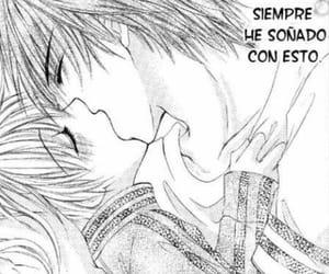 anime, couple, and anime kiss image