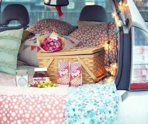 picnic, car, and nutella image