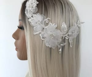 etsy, hair accessories, and bridal hairpiece image