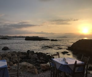 beach, Greece, and scenery image