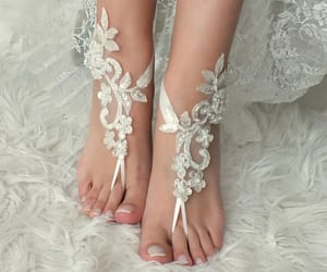 etsy, lace sandals, and wedding day image