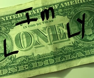 dollar bill, loner, and meme image