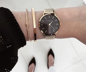 beauty, black, and clock image