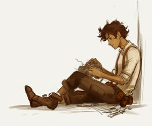 leo valdez, percy jackson, and viria image