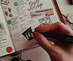 aesthetic, notebook, and planner image