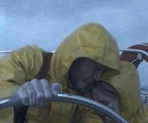 adrift, raincoat, and romance image