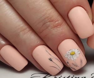 flower, nail art, and Nude image