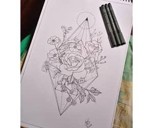 darkart, flowers, and rosas image