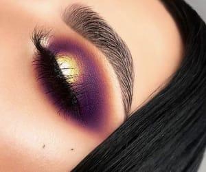 eyebrow, gold, and makeup image
