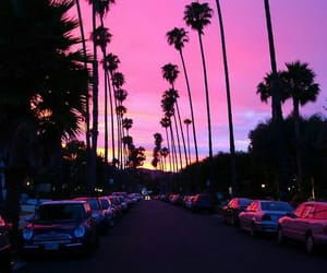landscape, pink, and sky image