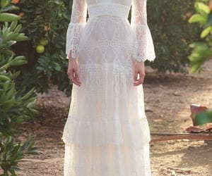 boho, hippie, and wedding dress image