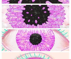 eyes, eye, and pink image