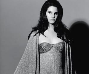 lana del rey, black and white, and Queen image
