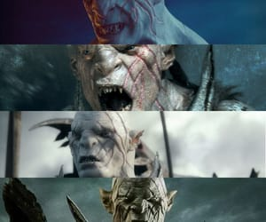 dark, the hobbit, and sauron image