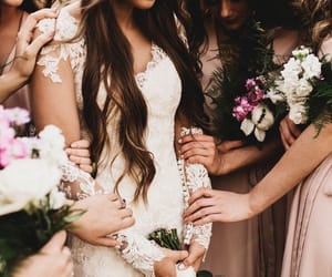flowers, prayer, and wedding image