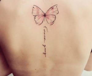 butterfly, quote, and tattoo image