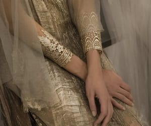 dress, fantasy, and golden image