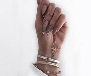 beige, hand, and rings image