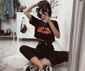 girl, style, and vans image