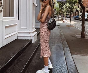 dress, sneakers, and street image