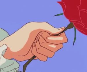 gif, anime, and rose image