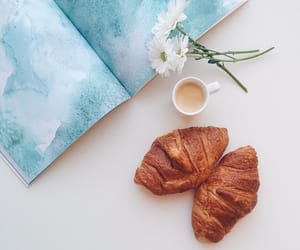 food, coffee, and flowers image