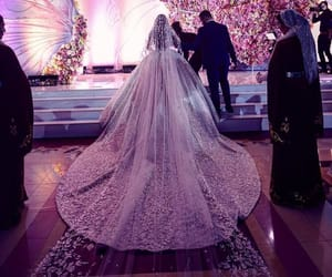 beautiful, glam, and weddinggown image