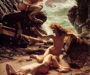 art, mermaids, and nymphs image