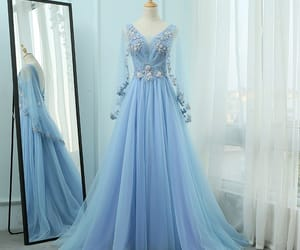 evening dress, lace, and tulle dress image