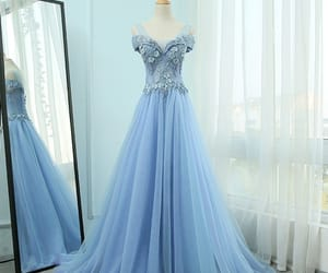 beading, evening dress, and tulle dress image