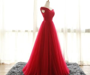 dress, red, and red wedding image