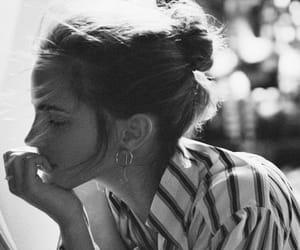 emma watson, actress, and black and white image