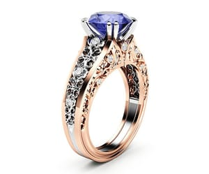 diamonds, two tone, and engagement ring image