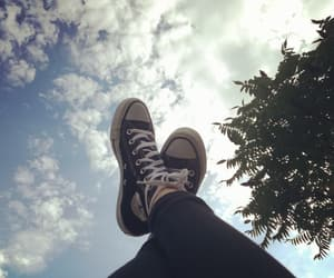 black, blue, and chuck taylors image
