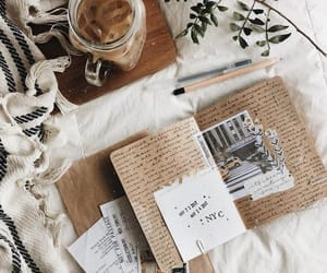 coffee, journal, and bullet journal image