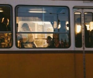 people, yellow, and train image