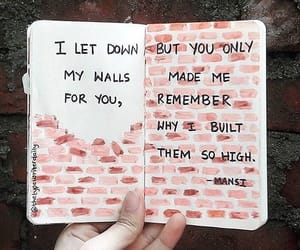 quotes, wall, and sad image