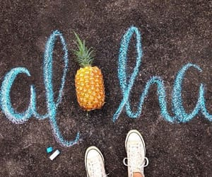 summer, Aloha, and pineapple image