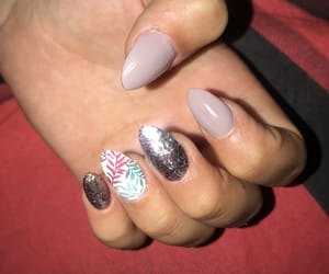 glitter, nails, and holo image