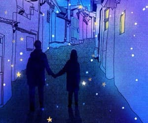 love, stars, and purple image