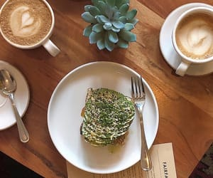 avocado, bakery, and beverages image