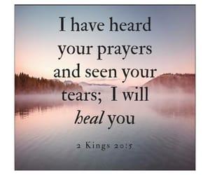 god, healing, and bible verse image