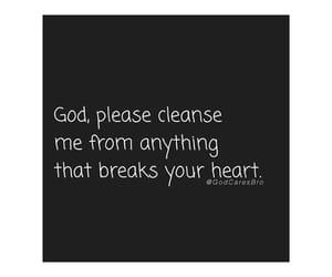 god, heart, and prayer image