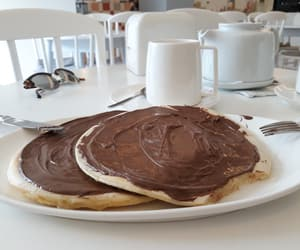 chocolate, lovely, and pancake image