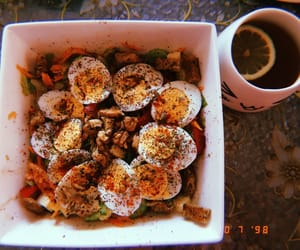 breakfast, coffee, and dinner image