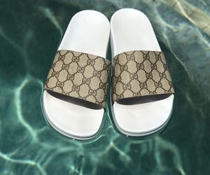 gucci, shoes, and pool image