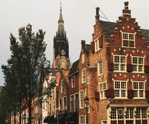 autumn, city, and delft image