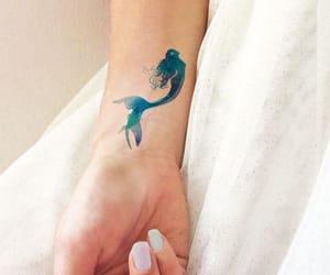 mermaid, ocean, and tattoo image